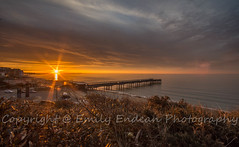 #206 of 365 - burst of orange - 080316 (Emily_Endean_Photography) Tags: longexposure sunset sea sun seascape beach architecture sunrise season landscape coast pier seaside nikon seasons bokeh pov wideangle ligt dorset bournemouth boscombe jurassiccoast