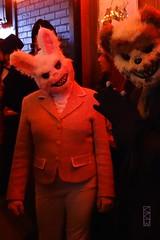 Happy Bunny & Bear (Craig Walkowicz) Tags: bear rabbit bunny halloween happy costume scary evil creepy teddybear glee anthropomorphize stevenspoint ccw