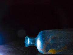 glass and galaxies (johnemount) Tags: light stilllife glass bulb reflections stars bottle bottles galaxy bulbs galaxies universe chiaroscuro