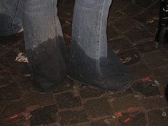 long wet (eliseoutof) Tags: wet long ripped dirty jeans flared bellbottom
