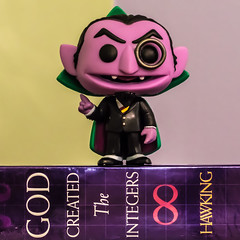 The Count (The Flying Inn) Tags: green television toy toys tv doll purple puppet action vampire character vinyl pop stephen numbers sesamestreet math figure childrens muppet pbs scientist count hawking funko godcreatedtheintegers