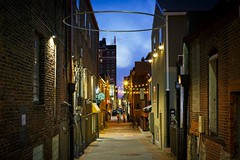 Alley A at Dusk II (Notley) Tags: street city sunset architecture buildings evening march alley downtown outdoor dusk columbia ring missouri publicart bluehour ninthst columbiamissouri 2016 bocomo ninthstreet 10thavenue tigerhotel dxoopticspro notley alleya goodnature boonecountymissouri notleyhawkins missouriphotography httpwwwnotleyhawkinscom notleyhawkinsphotography boonebounty downtowncolumbiamissouri alleyarealestate
