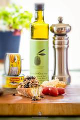 Tapenade (DominiquePelletier.ca) Tags: food bread recipe lunch olive snack canned oil tuna tapenade pastene