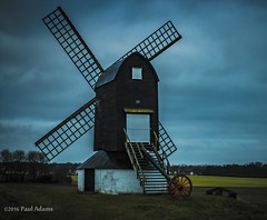 IMG_8709 (mrpauladams) Tags: road blue blackandwhite color colour windmill girl mono dusk beds aylesbury bucks fatheranddaughter wagonwheel herts mrpauladams dreamchaserentertainment
