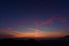 Los Angeles sunset and solar pillar, 20 March 2016 b. (bt 104) Tags: light sunset los angeles pillar
