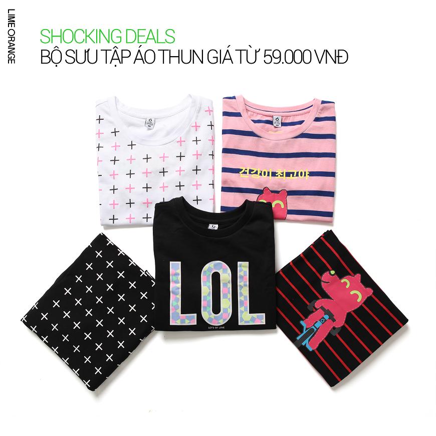 [SHOCKING DEALS] Bộ sưu tập áo thun ưu đãi từ 59k