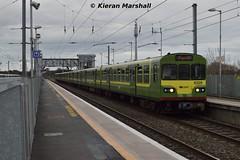 8129+8104+8101+8108 arrive at Clontarf Road, 12/3/16 (hurricanemk1c) Tags: irish train siemens rail railway trains railways dart irishrail lhb 2016 iarnród 8129 éireann iarnródéireann clontarfroad class8100 1600howthgreystones