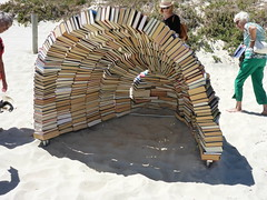 Book Cave - Juliet Lea (Figgles1) Tags: sea sculpture cottesloe sculpturebythesea sculptures 2016 bookcave p1010843 julietlea