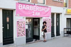 (Peter de Krom) Tags: pink girl shop hair rotterdam barbershop barber hairdresser iam avond straat kapper feijenoord rotterdamzuid fijenoord volksbuurt hillesluis riederlaan volkswijk