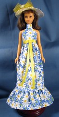 Daisy Gown for Francie (Debras Closet) Tags: blue white yellow mod francie dollclothes