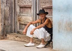 Weathered (Chris Willis 10) Tags: door man cuba weathered cuban