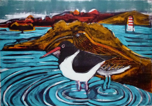 Jones, Kittie: 'Oystercatcher and curlew'