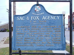Sac & Fox Agency Historic Marker (jimmywayne) Tags: oklahoma sac historic agency fox marker stroud sacandfox lincolncounty