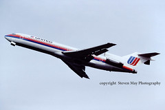 N7267U Boeing 727 United (SPRedSteve) Tags: washington united national 1992 boeing unitedairlines 727 boeing727 n7267u