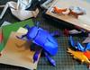 Multi-piece origami beetle (edg82) Tags: paper model origami purple beetle fold stagbeetle lesserstagbeetle dorcusparallelipipedus