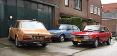 1977 Saab 99 GL, 1983 Saab 99 GL & 1983 Saab 99 GL (rvandermaar) Tags: 1983 saab 99 gl 20 saab99 sidecode4 jp80jx 89rpxz sidecode6 saab99gl 83ya05 sidecode3 import rvdm