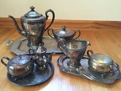 1. $10 Sterling Silver Tea Sets (Foxy Belle) Tags: set silver tea sale garage william wm triumph sterling roger find bargain sons tarnished