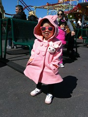 Coolest Cute Toddler (Sebastian Sinisterra Photography) Tags: park new york city nyc ny cute bunny feet girl sunglasses brooklyn asian island amusement spring big cool toddler shoes afternoon phone shot little coat sunny iso newest 100 cuteness coney coolest cyclone recent attraction