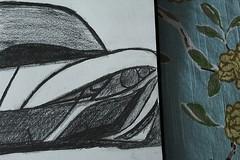 XB-16 (UndercoverWookiee) Tags: art car pencil artist lego drawing half peek headlight 16 prismacolor 4h xb 2b 4b 6b 2h sneak 10b 8b 12b 2hb