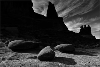 Three Rocks, Arches National Park