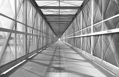 Vanishing point (gigarimini (busy on/off)) Tags: vanishingpoint iron tunnel cage symmetry inkwell