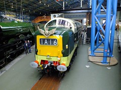 Deltic D9002 . (steven.barker57) Tags: light england green infantry museum train coast diesel yorkshire main railway loco trains line east kings national locomotive ok own nrm deltic d9002