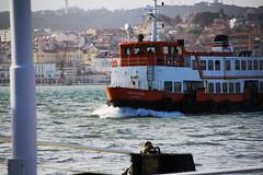Seixalense (P Martinho) Tags: orange boat barco lisboa laranja ferrie almada monsanto cacilheiro ginjal caisdosodr seixalense pmartinho