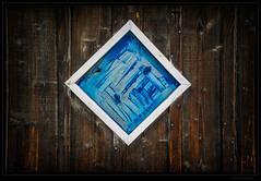 blue window (P.Hcherl) Tags: wood blue brown window germany bayern deutschland bavaria nikon fenster braun blau holz lam bayerischerwald 2016 d5300 16300mm tamron16300mmf3563diiinafvcpzdmacro