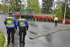 RCMP Regimental Funeral for Cst. Sarah Beckett - Langford, BC (vibrant_art) Tags: red canada military police parade funeral rcmp procession langford colwood