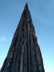 (Jesse Wagstaff) Tags: sanfrancisco california wood sculpture unitedstates logs andygoldsworthy