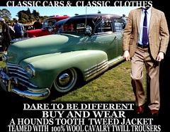 Classic cars ver 3 Tweed - Twill clothes  part  7 (Make Oxygen... Kill Co2...Plant More Trees) Tags: auto newzealand christchurch cars car canon vintage clothing classiccar nelson auckland nz wellington vehicle dunedin kiwi napier cavalry tweed houndstooth kiwiana twill tweedjacket tweedcoat cavalrytwilltrousers cavalrytwill