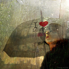 I love London (Lemon~art) Tags: city woman london texture mannequin rain skyline umbrella heart housesofparliament brolly ilovelondon