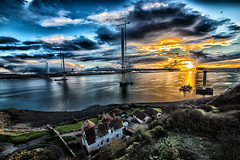 The nearly built new Forth Road Bridge (brianmcg89) Tags: road bridge sunset construction crossing replacement cable forth stay frb