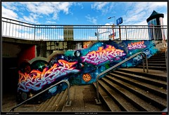 Artists: Unknown (pharoahsax) Tags: world street urban bw streetart get art colors wall writing germany painting deutschland graffiti artwork mural paint artist kunst tag tags spray peinture urbanart painter writer graff baden karlsruhe ka legal spraycan wrttemberg sden pmbvw worldgetcolors