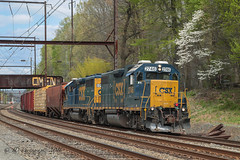 CSXT EMD GP38-2 #2746 @ Woodbourne, PA (Darryl Rule's Photography) Tags: sun train reading spring bc diesel pennsylvania trains pa oil april local ge freight buckscounty westbound catenary canadiannational csx freighttrain emd cnj bcrail cowl csxt woodbourne readingrailroad oxfordvalley mixedfreight britishcolumbiarail cptl oiltrains k614 k138 c970 trentonsub k61421