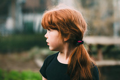 Camille (Gabriela Tulian) Tags: red portrait cute beautiful beauty childhood outdoors one kid spring pretty mood child young style redhead fairy hairstyle caucasian 67years onelittlegirl