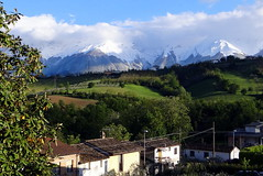 And you wouldn't like a view like this from your house because? (popinjaykev - living the Italian dream) Tags: italy snow mountains cold italia april abruzzo gransasso