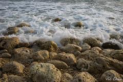 DSC09784 (Po Jui) Tags: blue light sky white nature water beautiful stone landscape seaside moss sony taiwan wave spray kaohsiung                 sal1635z slta99v