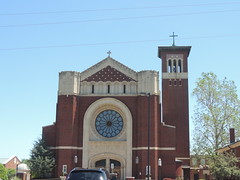 Our Lady of Perpetual help Catholic Church (ptcruiser4dogs) Tags: school building brick tower art church architecture cool catholic cross faith religion jesus saturday churchtower help okc stainglass oklahomacity ourlady johncarrol motar brickandmotar bishopjohncarroll