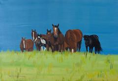 Pferdeherde ruhend (kunstgrafik) Tags: tiere kunst frieden landschaft pferde ruhe leinwand lgemlde luethi ruhend pferdeherde abdelghafar