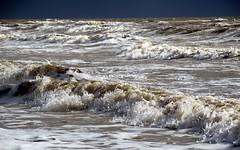High tide at Biggar Bank (billnbenj) Tags: surf waves spray cumbria barrow hightide irishsea walneyisland biggarbank