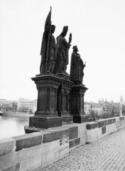 Statues on Karlv most (holtelars) Tags: blackandwhite bw 120 film monochrome rollei analog mediumformat 645 prague pentax praha czechrepublic analogue 6x45 charlesbridge sculptures f28 45mm czechia karlvmost 100iso pentax645 filmphotography rodinalspecial classicblackwhite 645n rpx homeprocessing filmforever smcpentaxfa r09spezial rpx100 rolleirpx100 larsholte compardr09spezial
