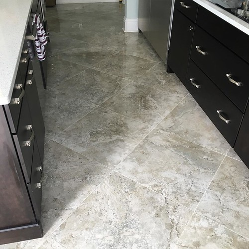 Final Photos Of The 24x24 Tarsus Grey Polished Porcelain Tile On South Tampa Florida
