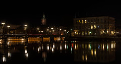 Stockholm night (P. Burtu) Tags: city bridge light water night evening sweden stockholm gamlastan sverige bro vatten natt stad kvll