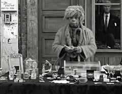 Stand Off (Becky Frances) Tags: street city uk england urban blackandwhite london market candid streetphotography olympus shoreditch bricklane socialdocumentary eastlondon 2016 blackandwhitestreetphotography pollyblue lensblr beckyfrances