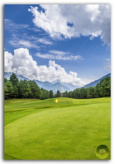 Pahalgam Golf Course with mountains in background, Jammu and Kashmir, India (KS Photography!) Tags: travel blue india mountain game color green tourism beautiful grass sport yellow vertical clouds golf outdoors photography nikon colorful asia natural bright wind vibrant flag hill lawn meadow lifestyle bluesky landmark course golfing golfcourse leisure lush activity nikkor curve nikondigital hdr cloudscape rolling whiteclouds photogrpahy travelphotography jammuandkashmir beautyinnature golfflag photoborder