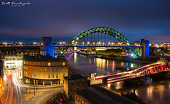 Night on the Quayside, Newcastle. (Scott_Keenleyside) Tags: longexposure urban colour architecture buildings newcastle structures bridges sage tyne tynebridge colourful swingbridge newcastleupontyne quayside urbanlandscape newcastlequayside longexpopsure urbanexplortation newcaslteupontyne quaysidenewcastle