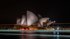 Sydney Opera House (Dhiren Bhundia) Tags: reflection water architecture night boats lights harbour sydney australia operahouse