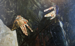 Schiele, Hermits, detail of hands