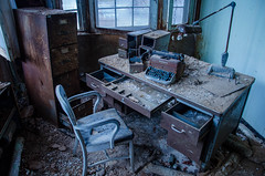 Worktime Blues (Fatigued_23) Tags: old urban abandoned rust decay exploring forgotten asylum dilapidation abandonment dilapidated urbex mentalinstitute